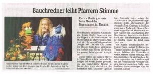 Bauchredner Patrick Martin im Theater Meißen